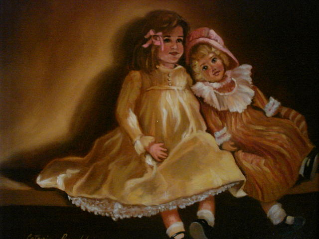 Helens Dolls Painting by Catherine Amendola