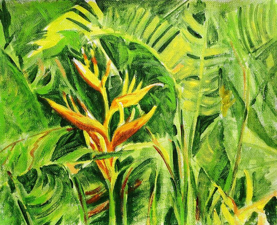 Flowers Painting - Heliconia 8 by Usha Shantharam