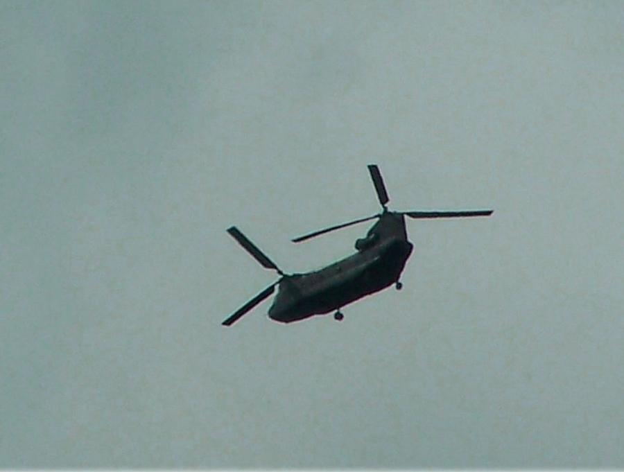 Transportation Photograph - Helicopter Leaving Airport by Lila Mattison