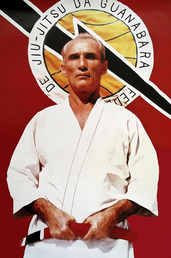 Gracie Digital Art - Helio Gracie - Famed Brazilian Jiu-jitsu Grandmaster by Daniel Hagerman