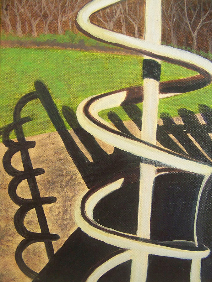 Playground Painting - Helix by Charlene Cloutier