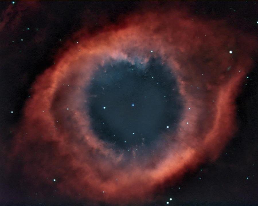 Helix Photograph - Helix Nebula by Charles Warren