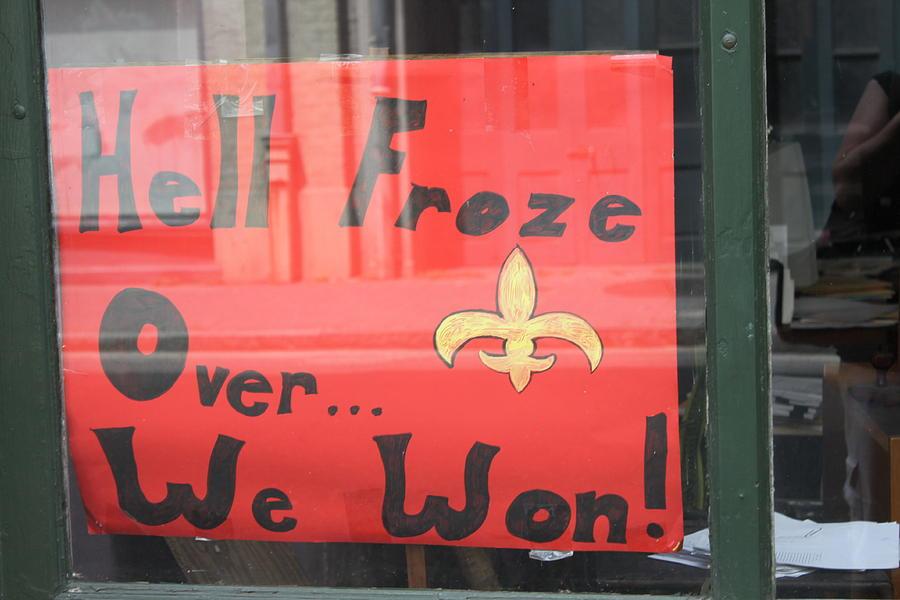 New Orleans Saints Photograph - Hell Froze by Lauri Novak