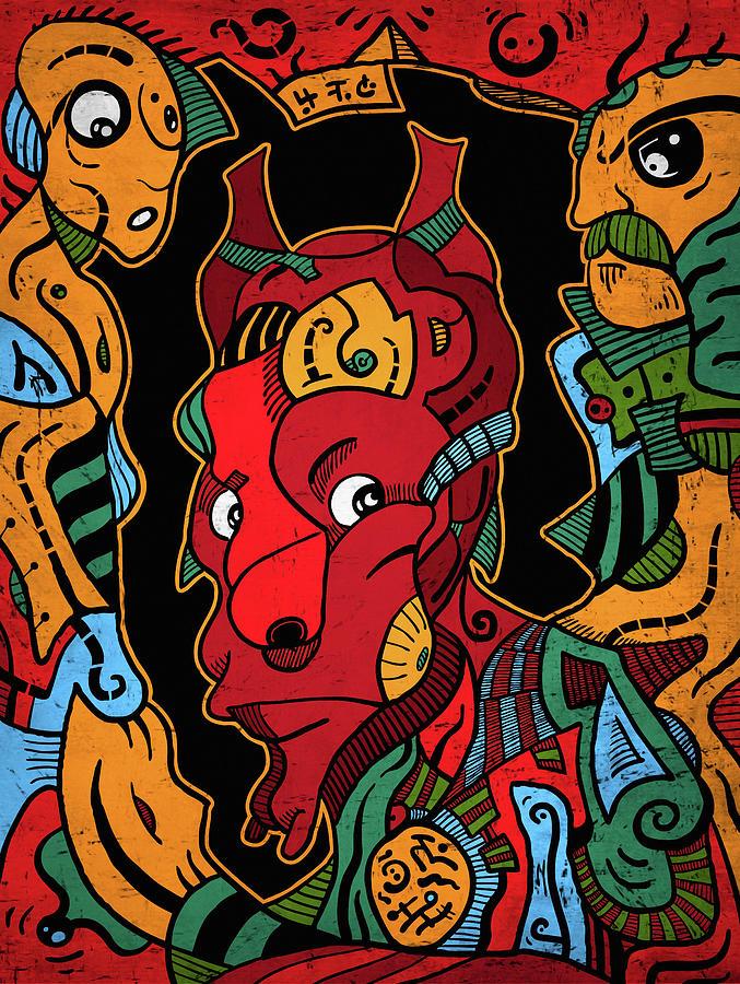 Illustration Digital Art - Hell by Sotuland Art