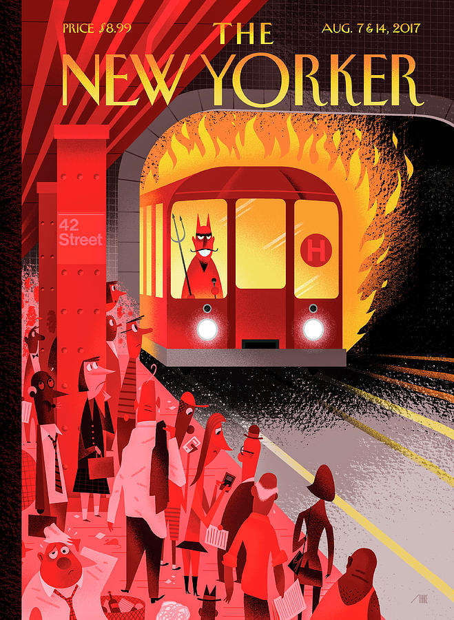 Hell Train Drawing by Bob Staake