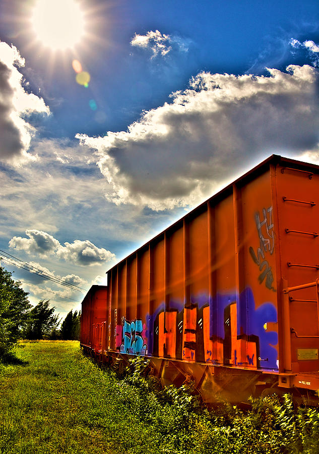Train Photograph - Hell Train by William Wetmore
