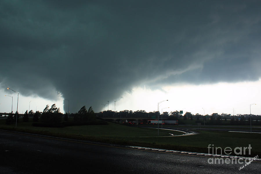 Tuscaloosa Tornado Photograph - Hell Unleashed by Rick Lipscomb