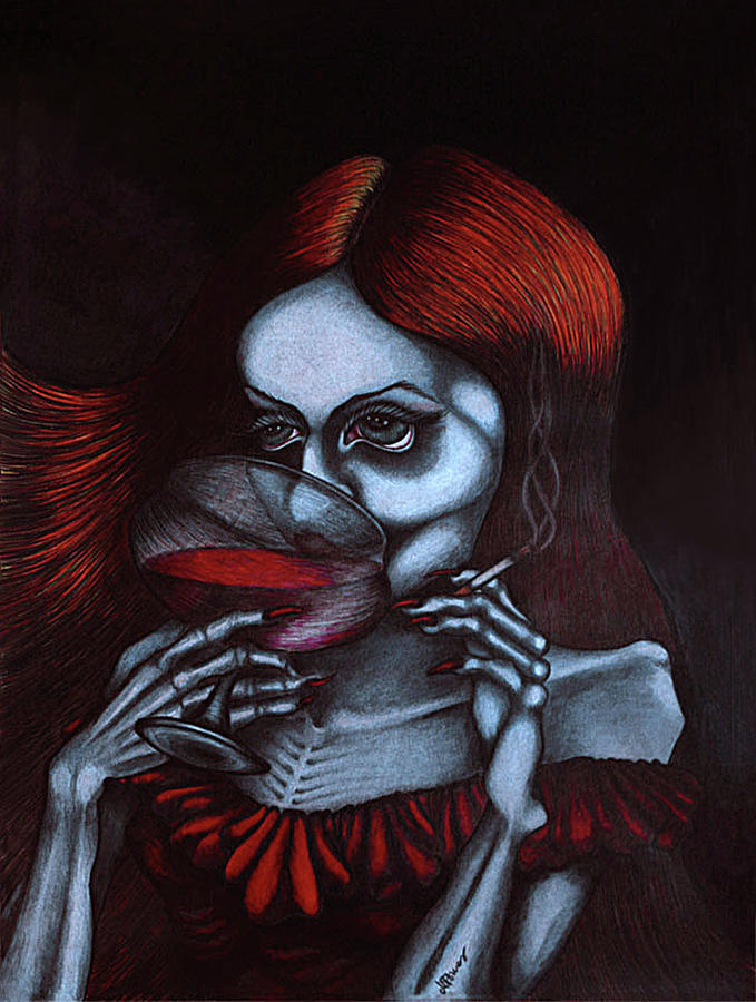 Hella O: Hella At The Devil's Ball Drawing By Maryska Torresowa