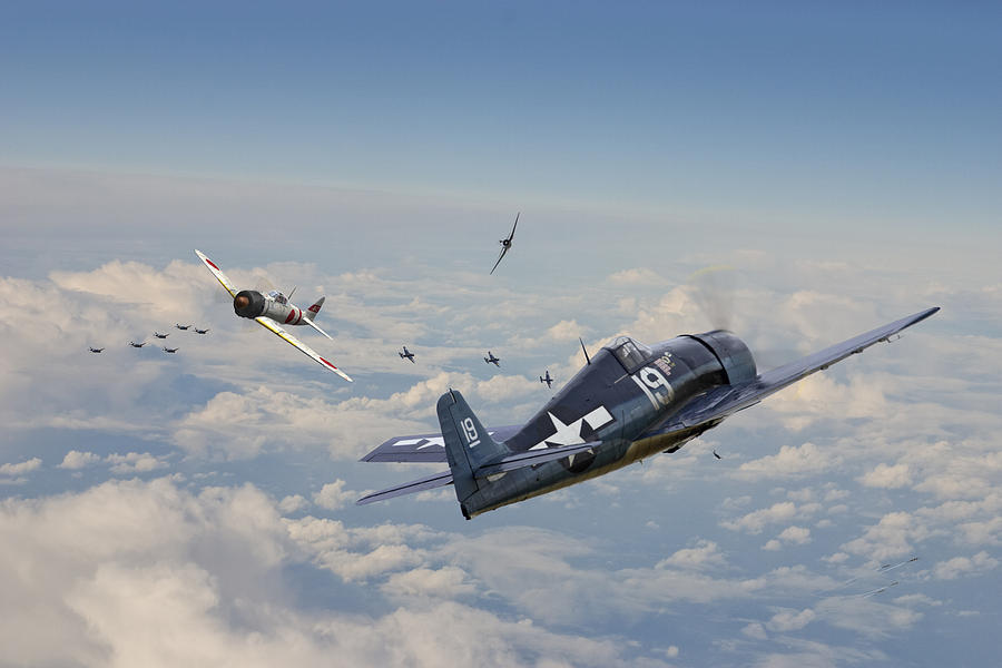 Aircraft Photograph - Hellcat F6f - Duel In The Sun by Pat Speirs