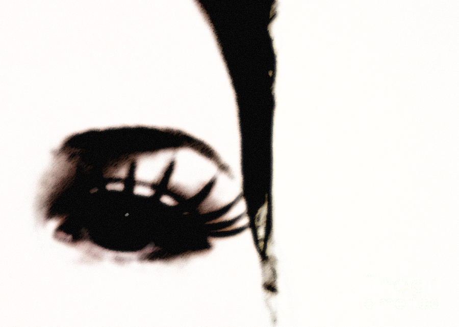 Eye Photograph - Hello by Amanda Barcon