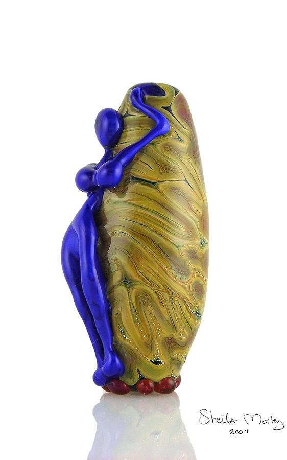Glass Glass Art - Hello Goddess by Sheila Morley