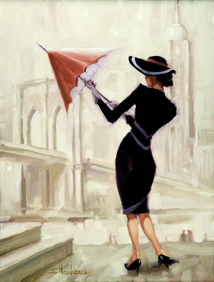 Fashion Painting - Hello New York by Steve Henderson