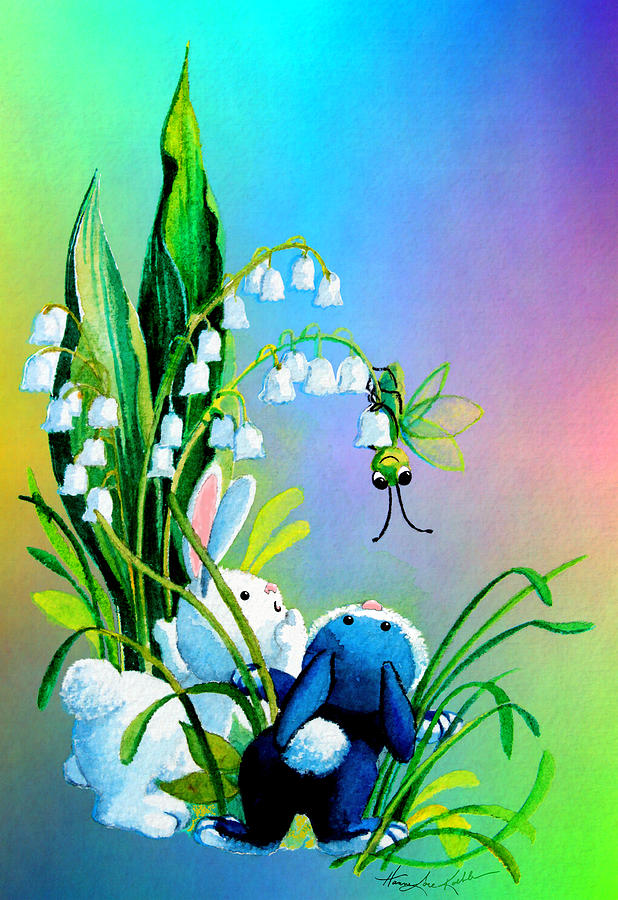 Easter Bunny Painting - Hello There by Hanne Lore Koehler