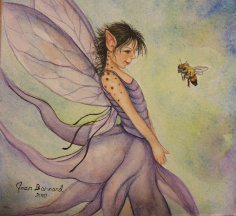 Fairy Painting - Hello There by Joan Barnard