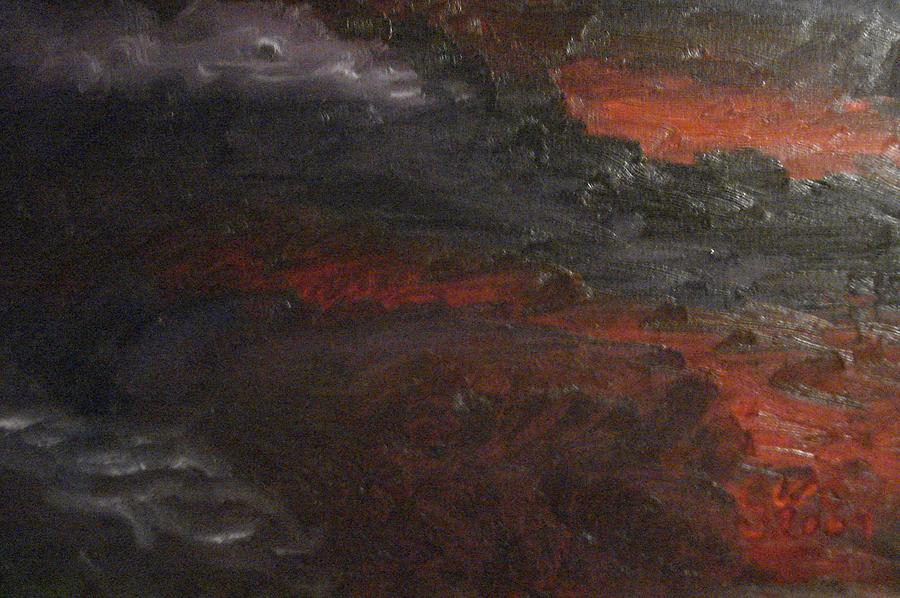 Red Painting - Hells Fury by Gloria Condon