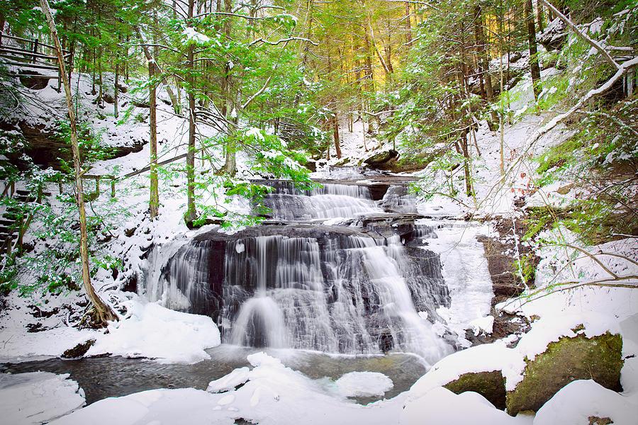 Waterfalls Photograph - Hells Hollow Falls 1 by Emmanuel Panagiotakis