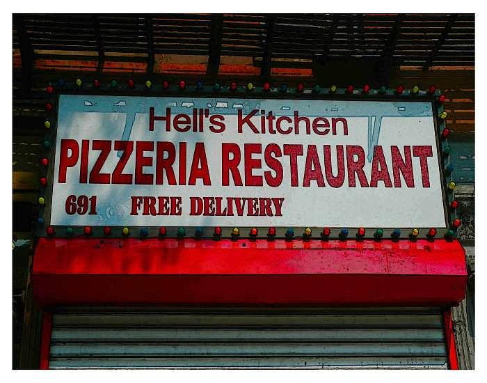 Hell's Kitchen Photograph - Hells Pizza 10th Ave. by New York City Artist - Alexander Aristotle