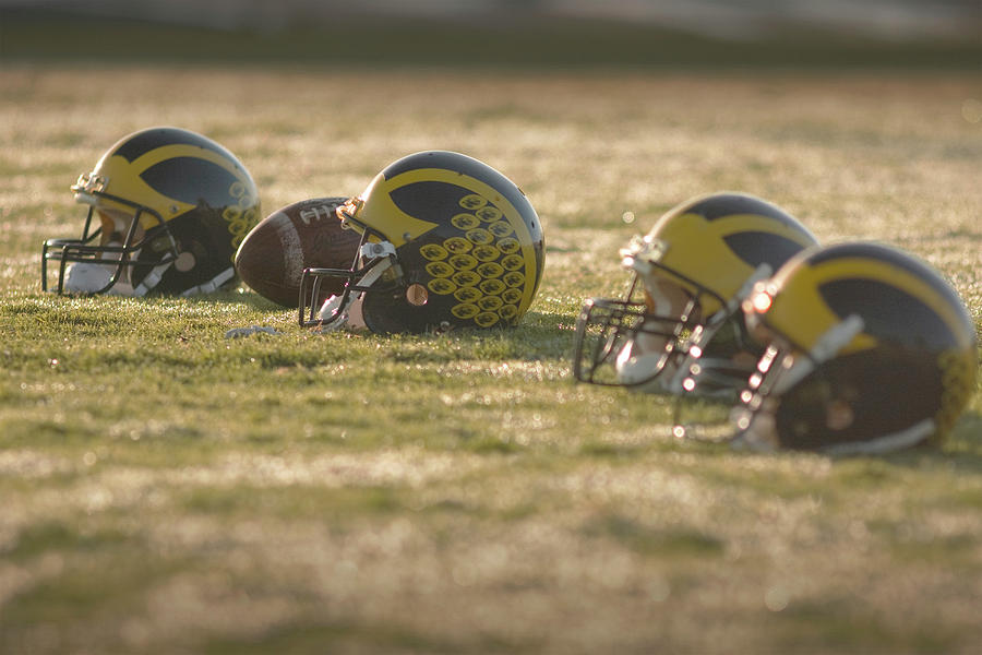 Helmets in Golden Dawn Sunlight by Michigan Helmet
