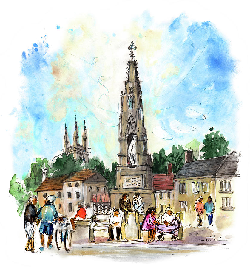 Travel Painting - Helmsley 03 by Miki De Goodaboom