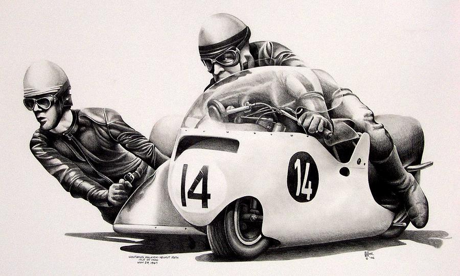 Isle Of Man Drawing - Helmut Fath by Harry Miller