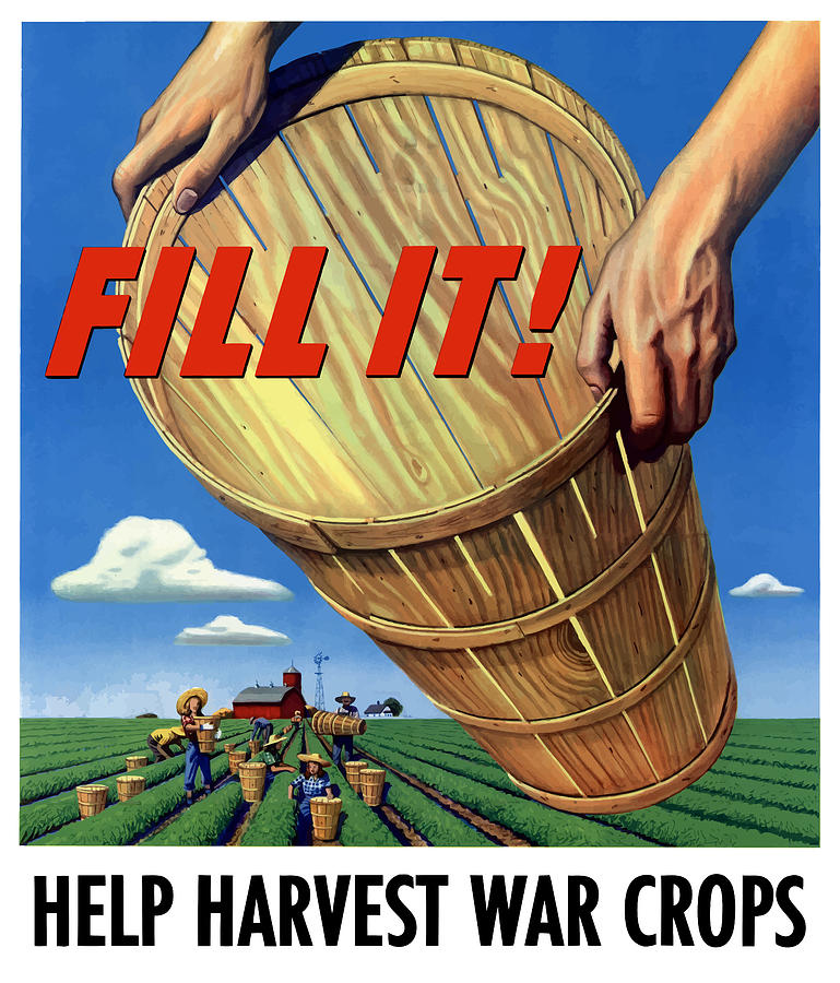 Farming Painting - Help Harvest War Crops - Fill It by War Is Hell Store