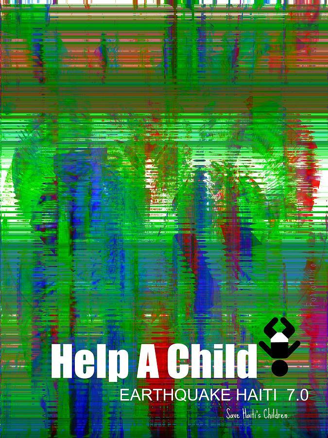 Fania Simon Painting - Help Save An Orphan by Fania Simon