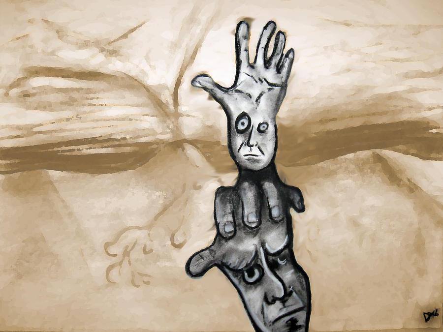 Hand Digital Art - Helping Hand by Jacob Smith
