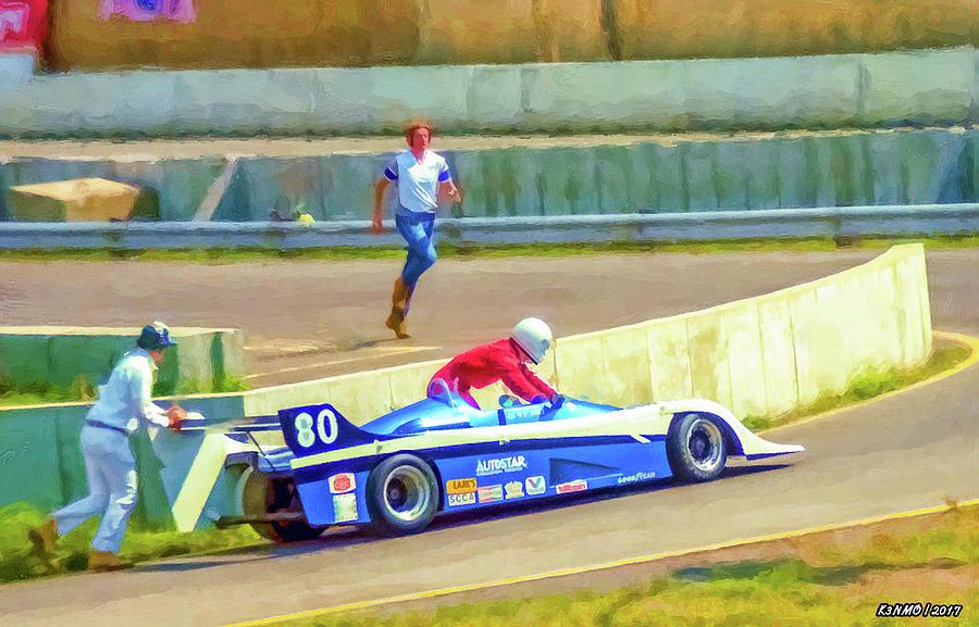Race Digital Art - Helping Hand by Ken Morris