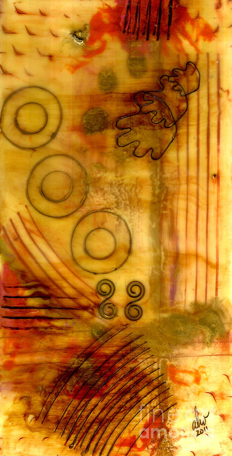 Wood Mixed Media - Helping Hands by Angela L Walker