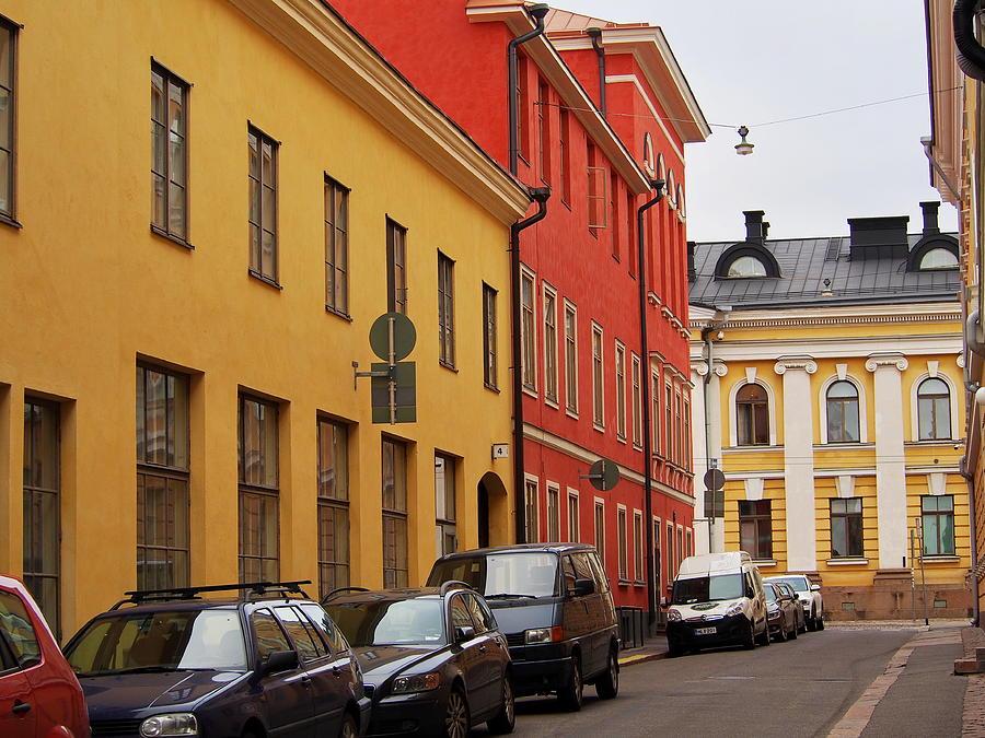 Helsinki Street Scene by Terry Fleckney