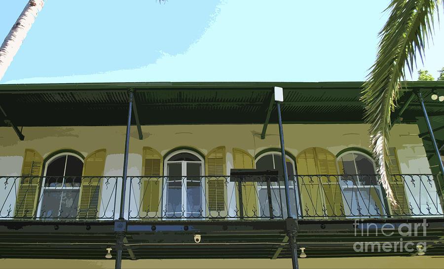Key West Photograph - Hemingway Balcony by Jost Houk