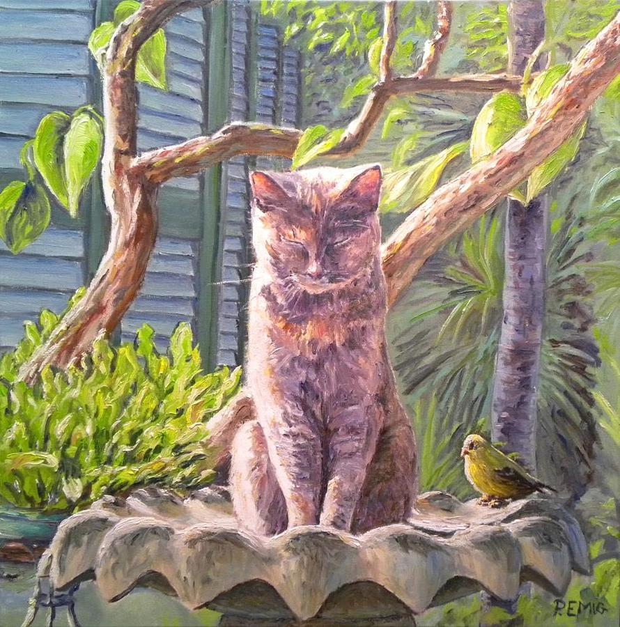 Cat Painting - Hemingway Cat by Paul Emig