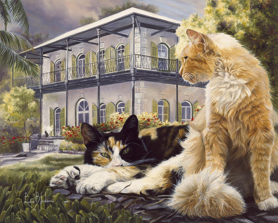Hemingway Painting - Hemingway House by Lucie Bilodeau