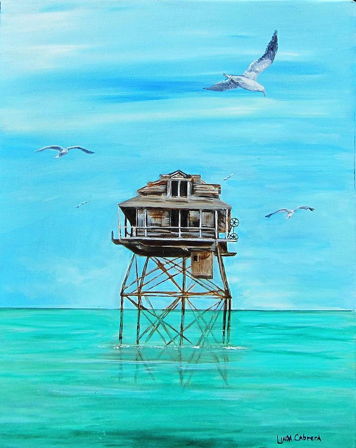 Hemingway Stilt House Painting By Linda Cabrera