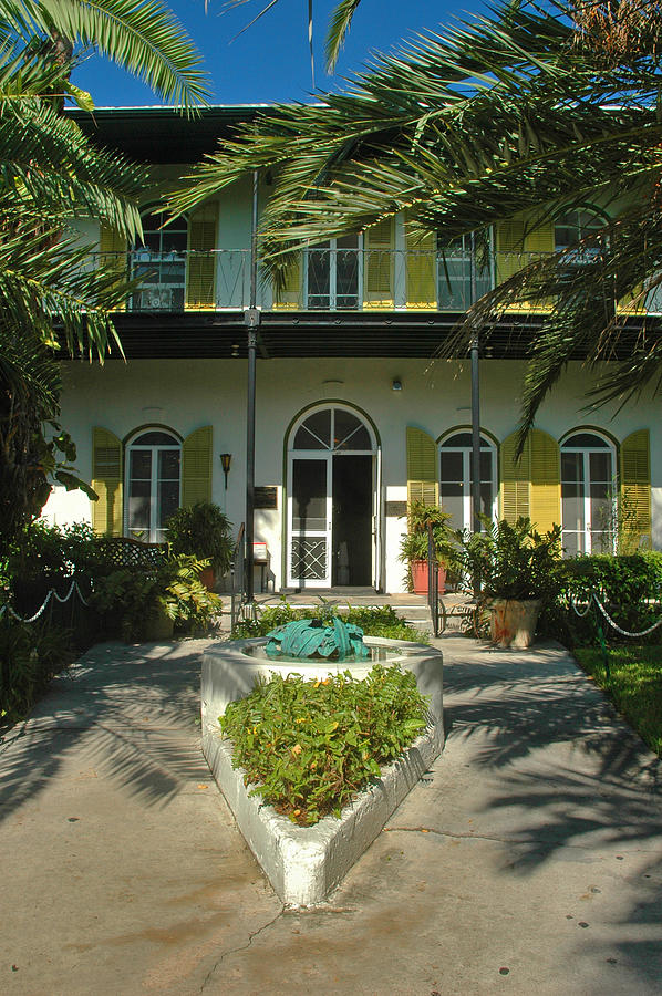 Historic Photograph - Hemingways House Key West by Susanne Van Hulst
