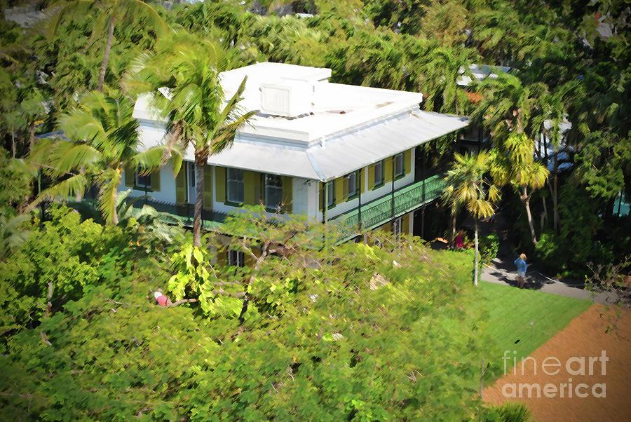 Key West Photograph - Hemingwy Aerial by Jost Houk