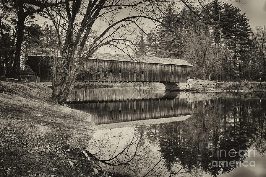 Hemlock Bridge 1857 Black And White Photograph