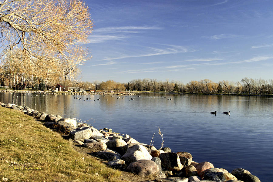 Lethbridge Photograph - Henderson Lake Waiting For Winter by Tom Buchanan