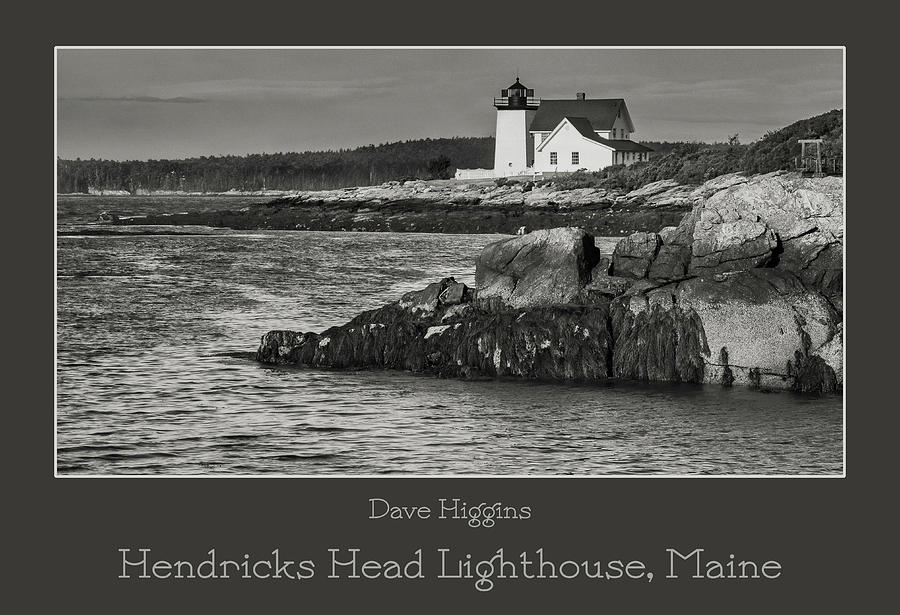 Maine Digital Art - Hendricks Head Lighthouse, Maine by Dave Higgins