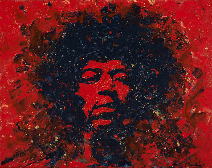 Jimi Hendrix Painting - Hendrix by Chris Mackie