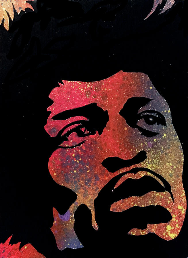 Hendrix Painting - Hendrix by Dennis Wells
