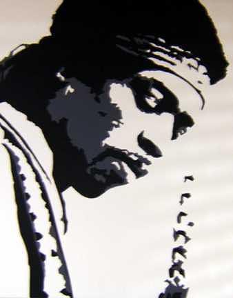 Music Painting - Hendrix by Michael James  Toomy