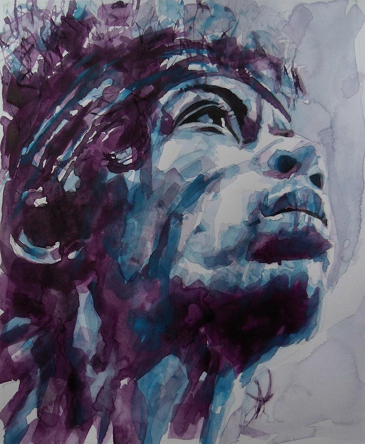 Jimi Hendrix Painting - Hendrix Woodstock  by Paul Lovering