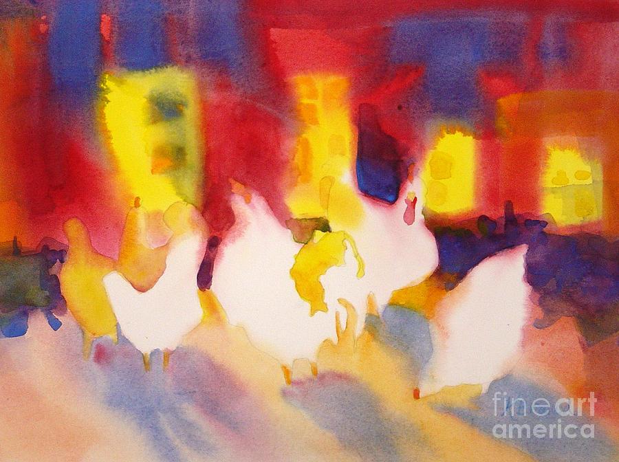 Paintings Painting - Henhouse Serenade by Kathy Braud