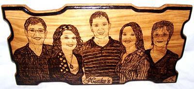 Henkes Family Portrait Drawing by Marla Gebhardt