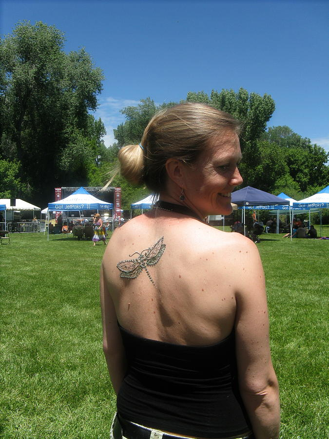 Ogden Utah Drawing - Henna Dragonfly by An Array of Artistry