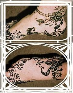 Henna Tattoos Drawing - Henna Feet by Janet Gioffre Harrington