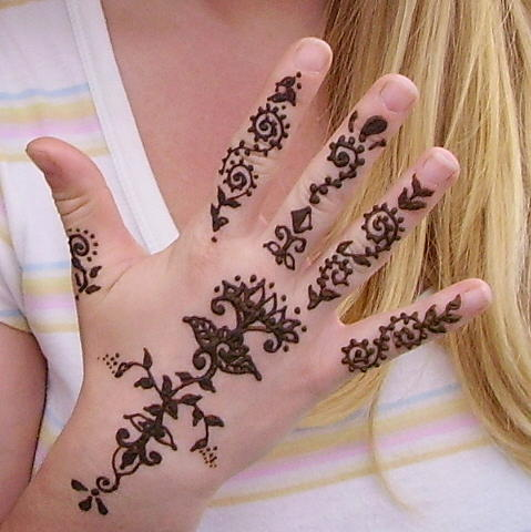 Henna Tattoos Painting - Henna Hand Design by Henna Tattoos Ogden Utah
