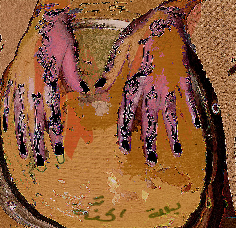 Human Composition Mixed Media - Henna by Noredin Morgan