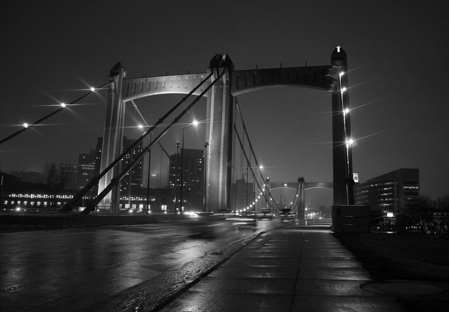 Minneapolis Photograph - Hennepin Avenue Bridge by Heidi Hermes